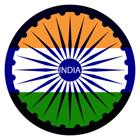 independence: Indian Independence Day background with  wheel.flag democracy