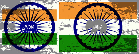 democracy: Indian Independence Day background with  wheel.flag democracy
