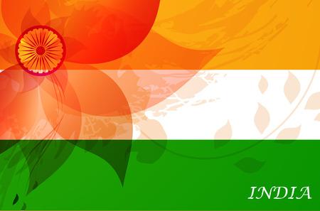 bandera blanca: Indian fondo D�a de la Independencia con la democracia wheel.flag