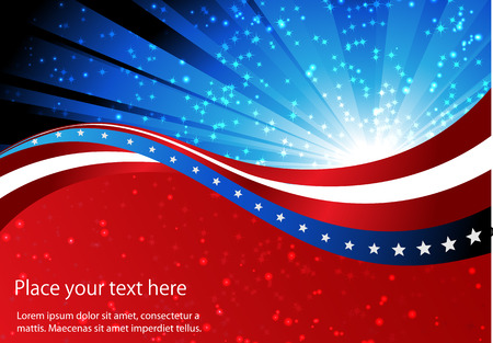 abstract background of the American flag,symbol united Illustration
