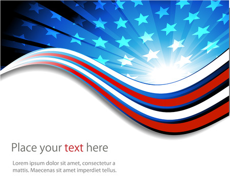 patriotic: abstract background of the American flag,symbol united Illustration