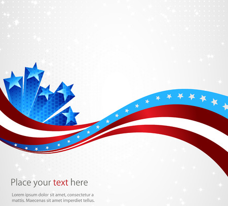 national freedom day: abstract background of the American flag,symbol united Illustration