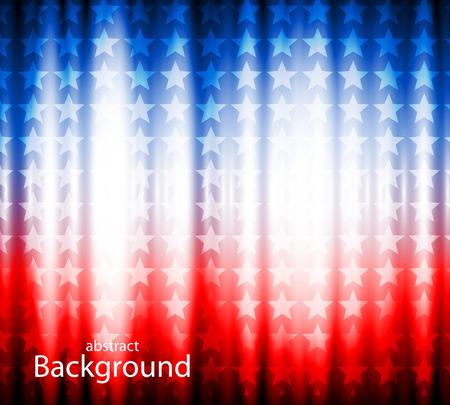 アメリカの抽象的な背景の国旗、アメリカのシンボル  イラスト・ベクター素材