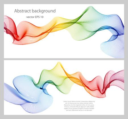 Elemento di disegno astratto dell'onda di colore, concetto decorazione Archivio Fotografico - 42000267