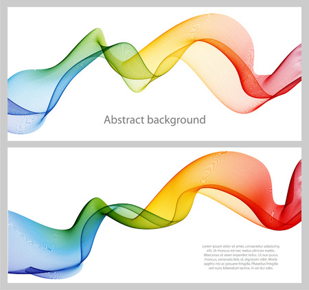 green lines: Abstract color wave design element, concept decoration