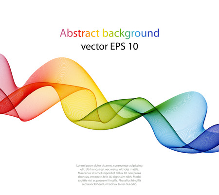 Elemento abstracto del diseño de la onda del color, el concepto de la decoración Foto de archivo - 42499811