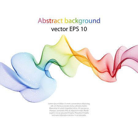 Elemento abstracto del diseño de la onda del color, el concepto de la decoración