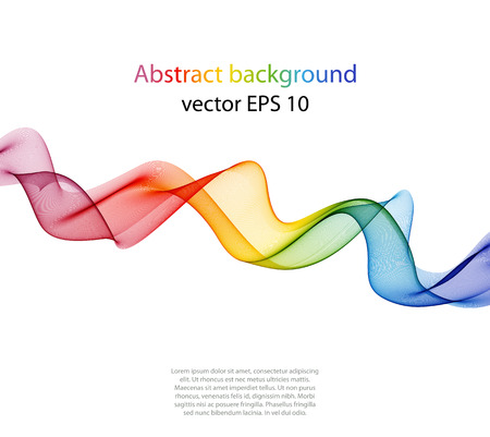 Abstract color wave design element, concept decoration