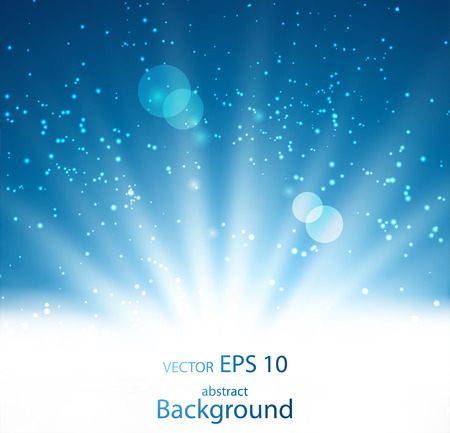 blue light: Abstract background with magic light. Vector illustration