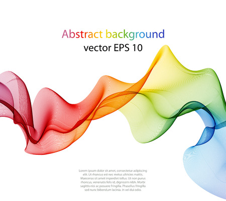 color illustration: Abstract color wave design element, concept decoration