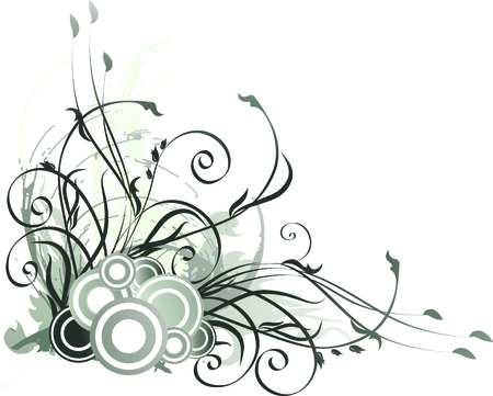 swill: Floral  background. Vector illustration with branches and leaves. Illustration