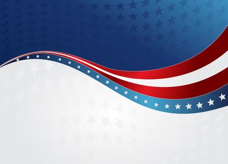 Amerikaanse vlag, Vector achtergrond voor Independence Day en andere evenementen. Illustratie in EPS-10.