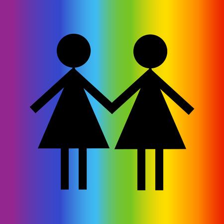 bisexuality: LGBT colors rainbow Illustration
