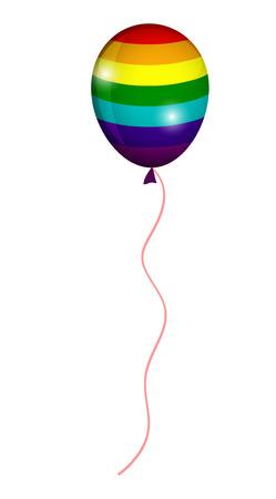 rainbow colors: LGBT balloon, colors of the rainbow Illustration