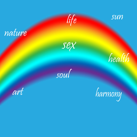 bisexuality: LGBT colors of the rainbow