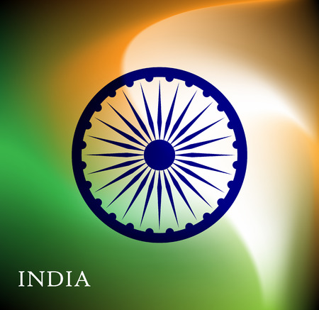 peace flag: Abstract image of Indian flag