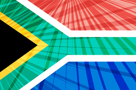 south african: Abstract image of the South African flag