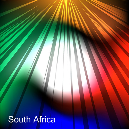 african culture: Abstract image of the South African flag