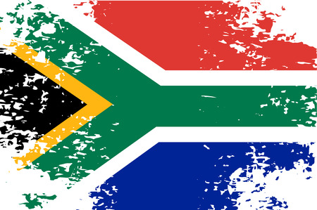 south african flag: Abstract image of the South African flag