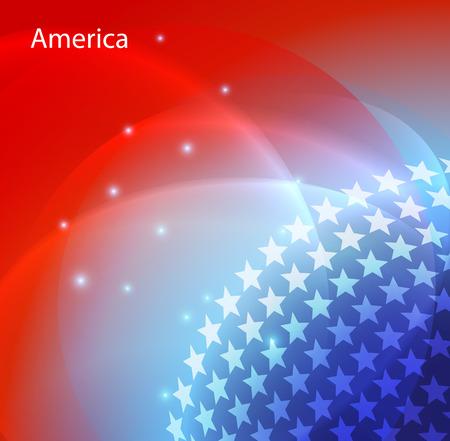 politics: Abstract image of the USA flag vector