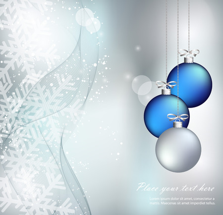 abstract christmas: Merry Christmas Landscape. Vector Merry Christmas Happy New Year