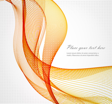 graphic elements: Abstract colorful background with wave, illustration, vector