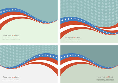 usa flag: American Flag, Vector background for Independence Day and other events. Illustration Illustration