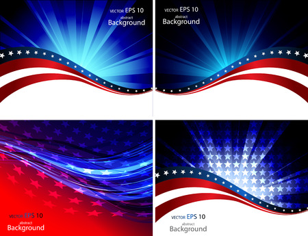 American Flag, Vector background for Independence Day and other events. Illustration 矢量图像