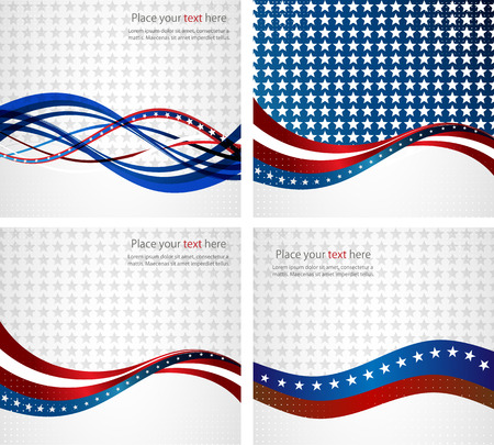 American Flag, Vector background for Independence Day and other events. Illustration 向量圖像
