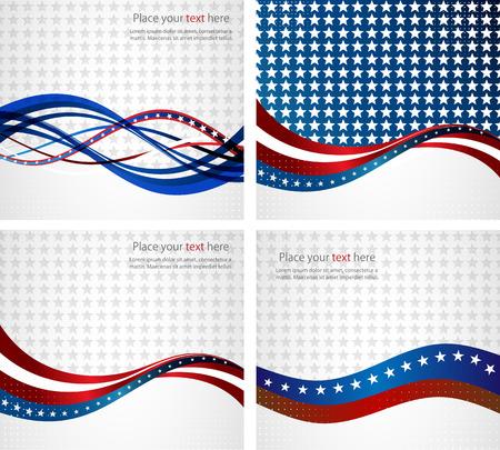 Amerikanische Flagge, Vektor-Hintergrund für Independence Day und andere Veranstaltungen. Illustration