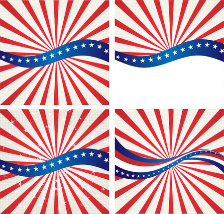 미국 국기, 독립 기념일 및 다른 이벤트에 대 한 벡터 배경. 삽화 일러스트