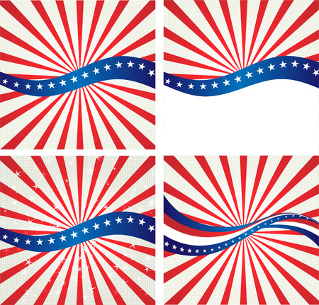 Amerikaanse vlag, Vectorachtergrond voor Onafhankelijkheidsdag en andere gebeurtenissen. Illustratie