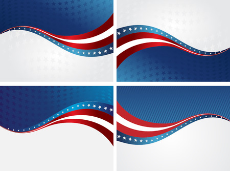 American Flag, Vector background for Independence Day and other events. Illustration Vettoriali