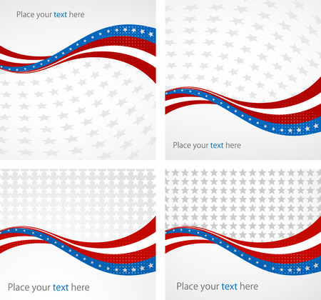 red and white: American Flag, Vector background for Independence Day and other events. Illustration Illustration