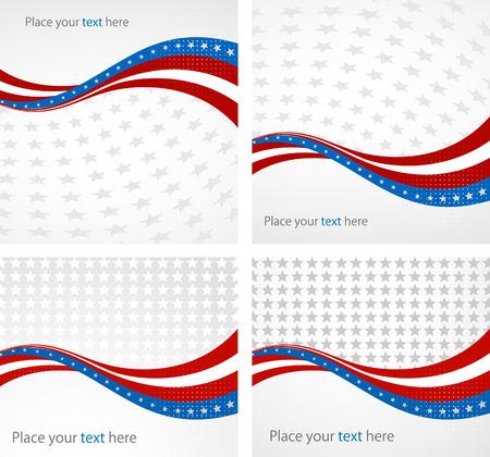 Amerikaanse vlag, Vector achtergrond voor Independence Day en andere evenementen. Illustratie