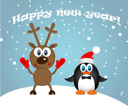 frohes neues jahr: Frohes neues Jahr  Illustration
