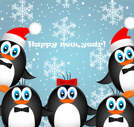 Vector Merry Christmas Happy New Year
