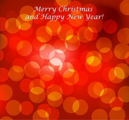 happy christmas: Merry Christmas Landscape. Vector Merry Christmas Happy New Year
