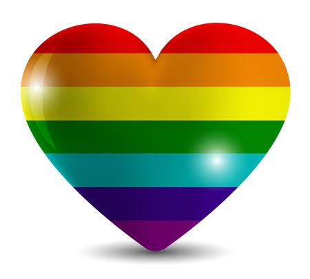 gemeenschap van de LGBT de kleuren van de regenboog Lesbische Stock Illustratie