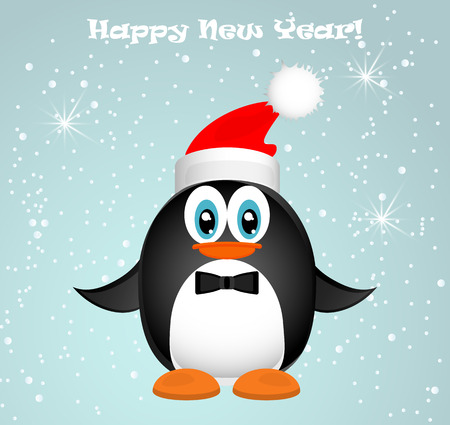 background antarctica: Merry Christmas Landscape. Vector Merry Christmas Happy New Year