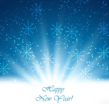 holiday season: Merry Christmas Landscape. Vector Merry Christmas Happy New Year