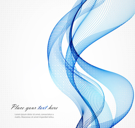 blue lines: Abstract color wave design element, concept decoration
