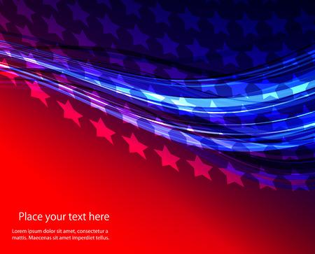 Patriottische golf achtergrond Abstract beeld van de Amerikaanse vlag