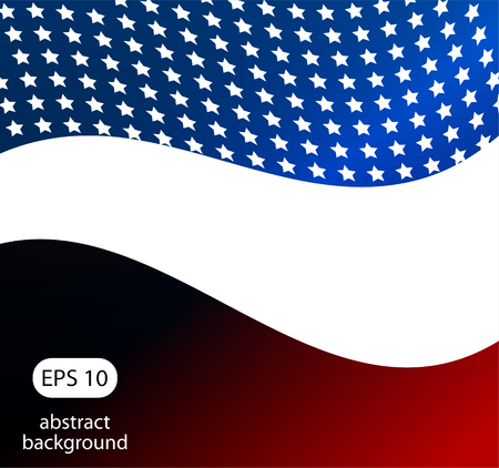 patriotic background: Patriotic wave background Abstract image of the American flag Illustration