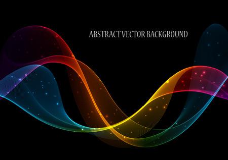de colores: Elemento abstracto del diseño de la onda del color, el concepto de la decoración Vectores