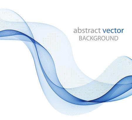 抽象的なウェーブ デザイン要素、概念の装飾