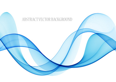 blue wave: Abstract color wave design element, concept decoration