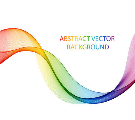 colorful: Abstract color wave design element, concept decoration