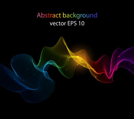 Abstrakte Farbe Welle Design-Element, dekoration Standard-Bild - 45158659