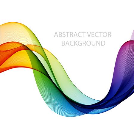 추상적 인 색 물결 디자인 요소, 컨셉 장식